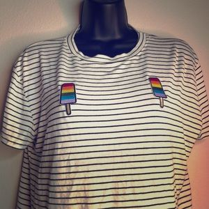 Popsicle rainbow crop top
